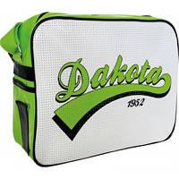 """Сумка """"Dakota"""", 34*12*27см, бело-зеленая"""