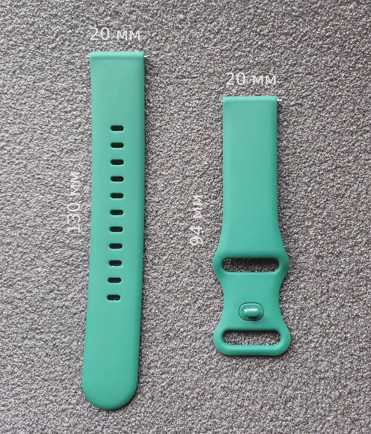 Ремешок силиконовый Sport для смарт-часов Huawei Watch 2   GT2 42mm   Honor MagicWatch 2 42mm, зеленый (20мм)