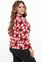 Супер теплий светр з трикотажу на хутрі розмір 48-52, фото 3