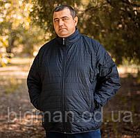 Чоловіча темно-синя демісезонна куртка Borcan Club батал Туреччина великі розміри