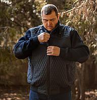 Мужская темно-синяя демисезонная куртка Olser батал Турция большие размеры