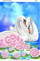 """Схема для частичной вышивки - """"Лебеди"""""""