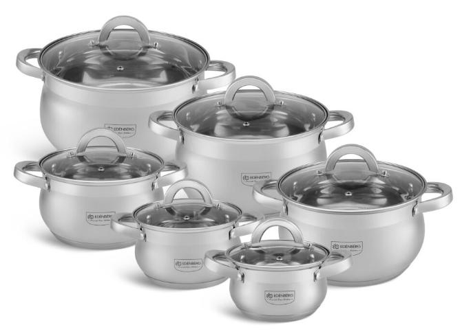 Набір посуду Edenberg EB-4065 з 6 предметів каструлі з нержавіючої сталі