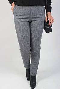 Тёплые женские брюки стейчевая шерсть с карманами №191 чёрно-белые