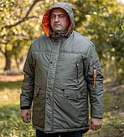 Чоловіча хакі демісезонна куртка з капюшоном Grand Chief батал Туреччина великі розміри