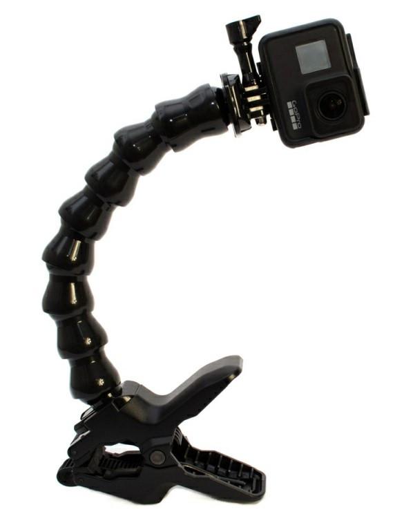 """Зажим для Gopro та інших екшн камер з посиленою гусячої шиєю """"Кріплення щелепи""""- Flex Clamp"""
