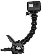 """Зажим для Gopro та інших екшн камер з посиленою гусячої шиєю """"Кріплення щелепи""""- Flex Clamp, фото 2"""