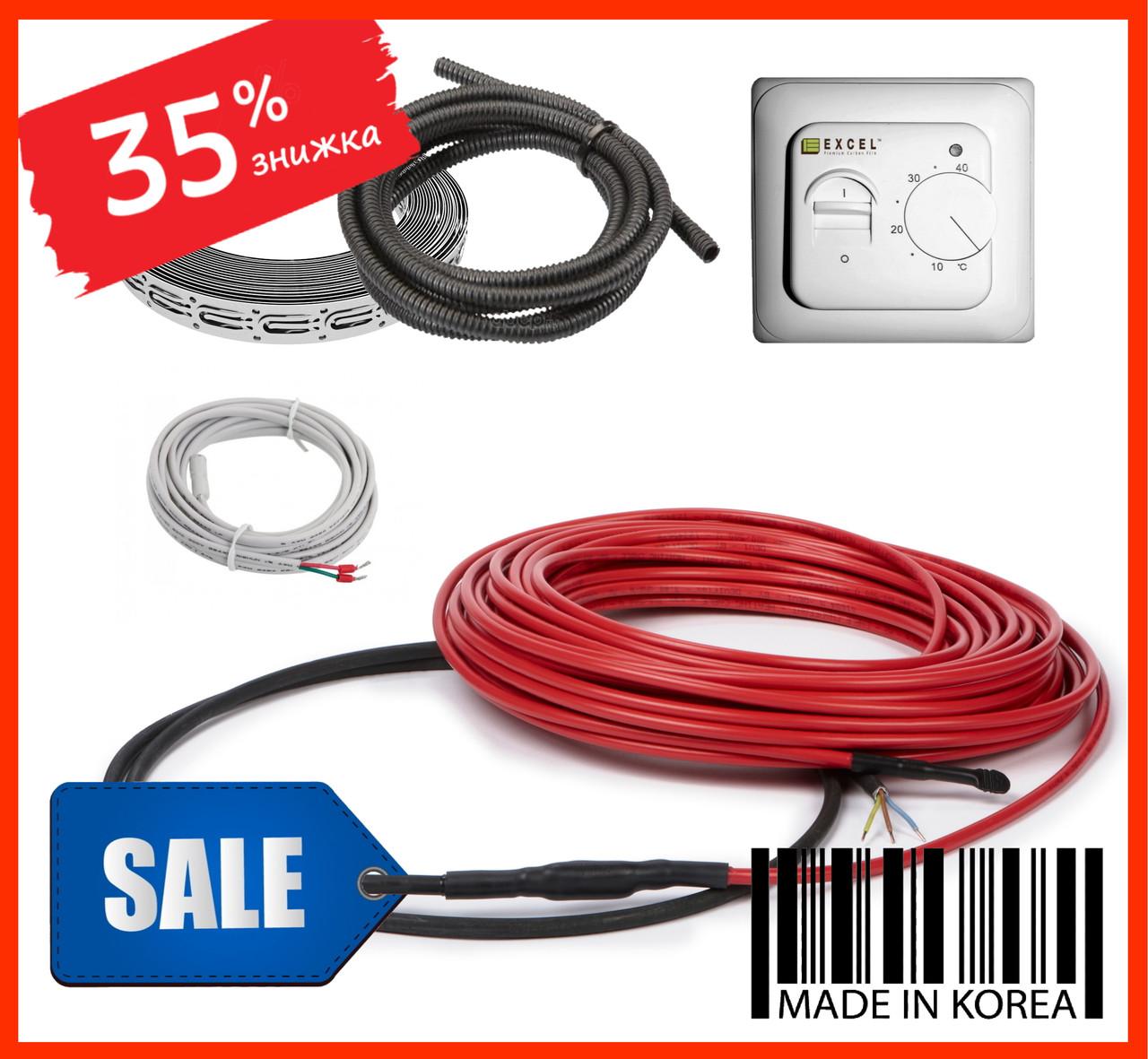 Нагревательный кабель FIX18 2250ват 13-15м2(125мп) Теплый пол электрический под плитку стяжку