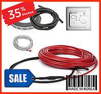 Нагревательный кабель FIX18 2250ват 13-15м2(125мп) Теплый пол электрический под плитку стяжку, фото 1