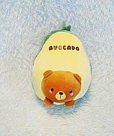 Плюшева іграшка-подушка авокадо ведмідь з пледом всередині 3 в 1 krd0191