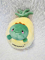 Плюшева іграшка-подушка ананас динозавр з пледом всередині 3 в 1 krd0193