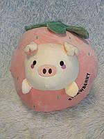 Плюшева іграшка-подушка полуниця з пледом всередині 3 в 1 krd0194