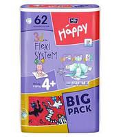 Детские подгузники, памперсы Bella Happy Maxi Plus 4+ (9-20 кг) Big Pack 62  шт.