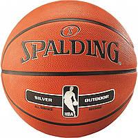 Мяч баскетбольный Spalding NBA Silver Outdoor Size 7