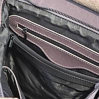 """Жіночий рожевий (лілово-рожевий) шкіряний рюкзак-сумка з тисненням """" під зміїну шкіру Tiding Bag - 24884, фото 7"""