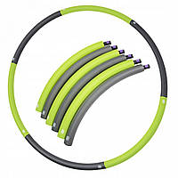 Обруч масажний Hula Hoop SportVida 90 см SV-HK0214 Grey/Green