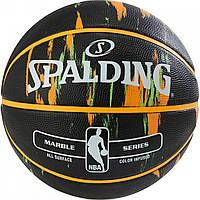 М'яч баскетбольний Spalding NBA Marble Outdoor Black/Orange/Green Size 7