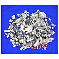 """Конфетти  метафан """"Серебряная фольга"""" 1 кг (4769)"""
