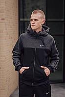 Утепленный мужской спортивный костюм Nike. Зимний мужской спортивный костюм Nike на флисе