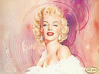 """Рисунок на ткани для вышивания бисером """"Обворожительная Мэрилин"""""""