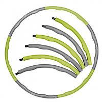 Обруч масажний Hula Hoop SportVida 100 см 1.2 кг SV-HK0339 Grey/Green