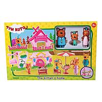 Игровой набор Три кота Дом Веселая семья