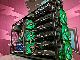 Майнинг ферма закрытого типа AMD RX580 4gb/ майнинг криптовалюты ERG/ ETC/ RVN