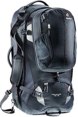 Мужской вместительный туристический рюкзак DEUTER raveller 70 + 10, 3510115 7400 черный