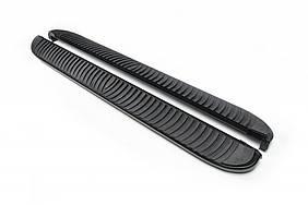 Боковые пороги Tayga Black (2 шт, алюминий) для Opel Grandland X 2016↗ гг.