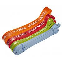 Эспандер-петля (резина для фитнеса и спорта) SportVida Power Band 4 шт 0-26 кг SV-HK0190-2