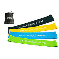 Резинка для фитнеса и спорта (лента-эспандер) 4FIZJO Mini Power Band 4 шт 1-20 кг 4FJ1042