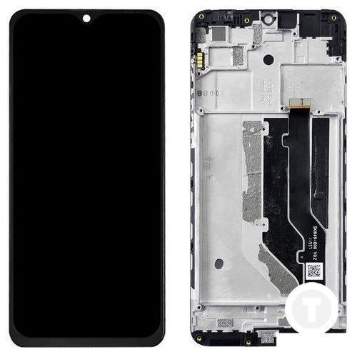 Дисплей (екран) для ZTE Blade 20 Smart (V1050) з сенсором/ тачскріном (Модуль) чорний з рамкою (передній