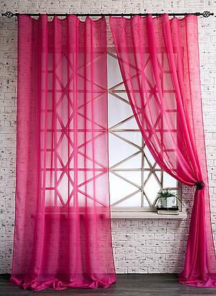 Декоративные шторки из вуали №2(Барби-насыщенный розовый), фото 2