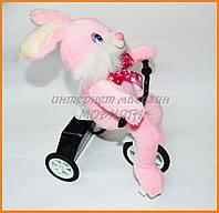 Заяц на велосипеде | мягкая игрушка