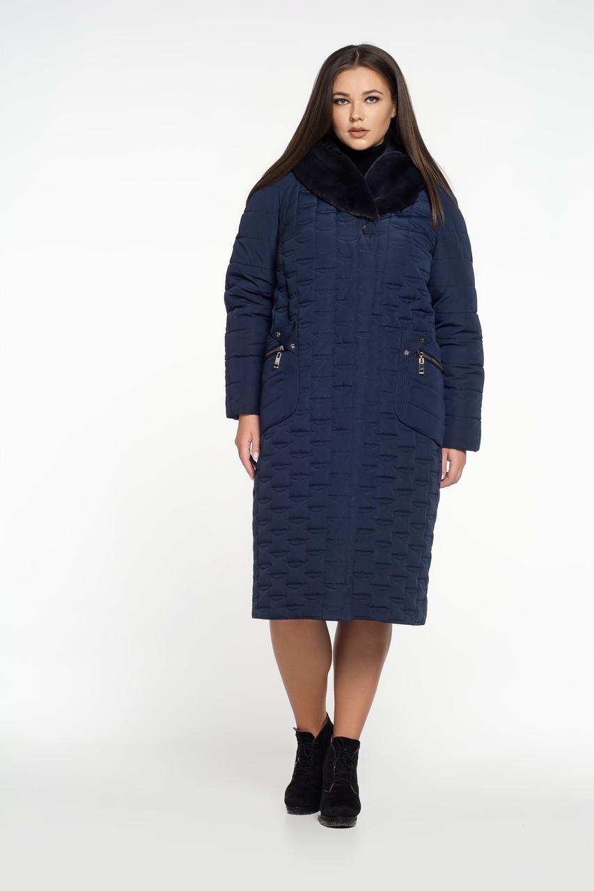 Женская зимняя куртка синяя