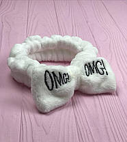 Бант-Пов'язка для волосся косметична солоха City-A Double Dare OMG ОМГ White Біла