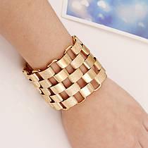 Жіночий Браслет City-A колір Золотий Масивний Дизайнерський Вінтаж 18 Розмір №3172