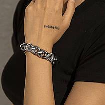 Жіночий Браслет, Ланцюжок City-A Товсте плетіння колір Срібний №3248
