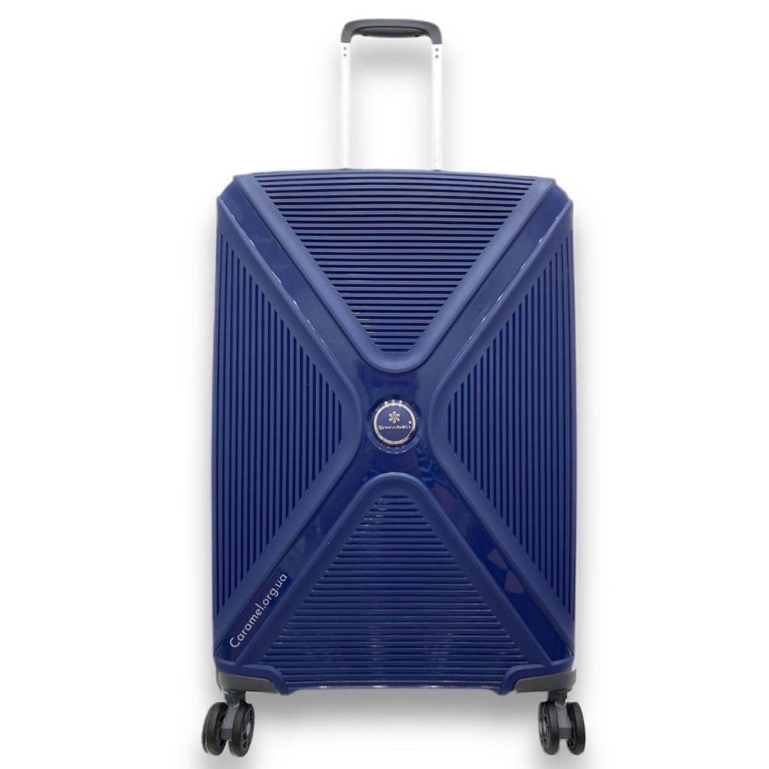 Валіза поліпропілен Франція середній М синій / 66*44*28 см/ 3 кг / 72 л Snowball 84803