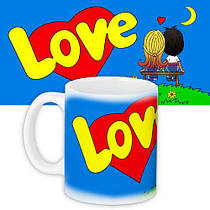 Чашка, Кружка з принтом City-A 330 мл. Love is