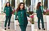 Гарний жіночий ошатний костюм: подовжена блуза з вишивкою і штани, батал великі розміри, фото 4