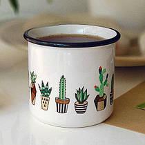 Чашка, Кружка з принтом Туристична Camper City-A 250 мл Кактуси