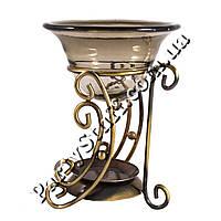 Аромалампа с чашей металлическая, золотистая