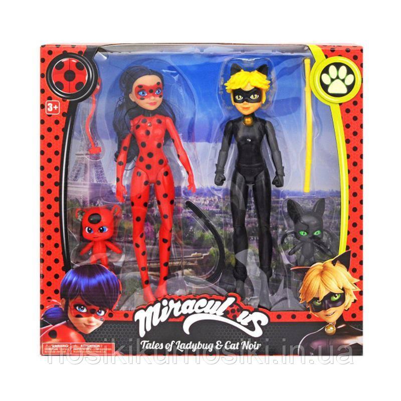 Музичні фігурки героїв з мультфільму Ladybug&Cat Noir - Леді Баг, Супер Кіт, квами