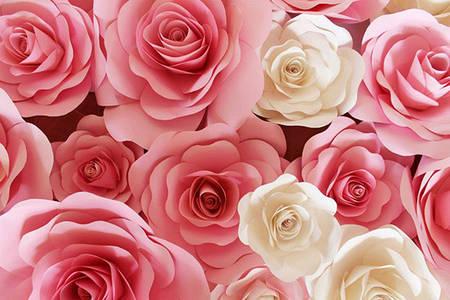 Большие бумажные цветы для праздничного декора
