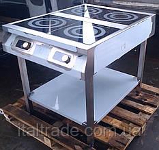 Индукционная плита напольная 4 конфорки по 3,5 кВт