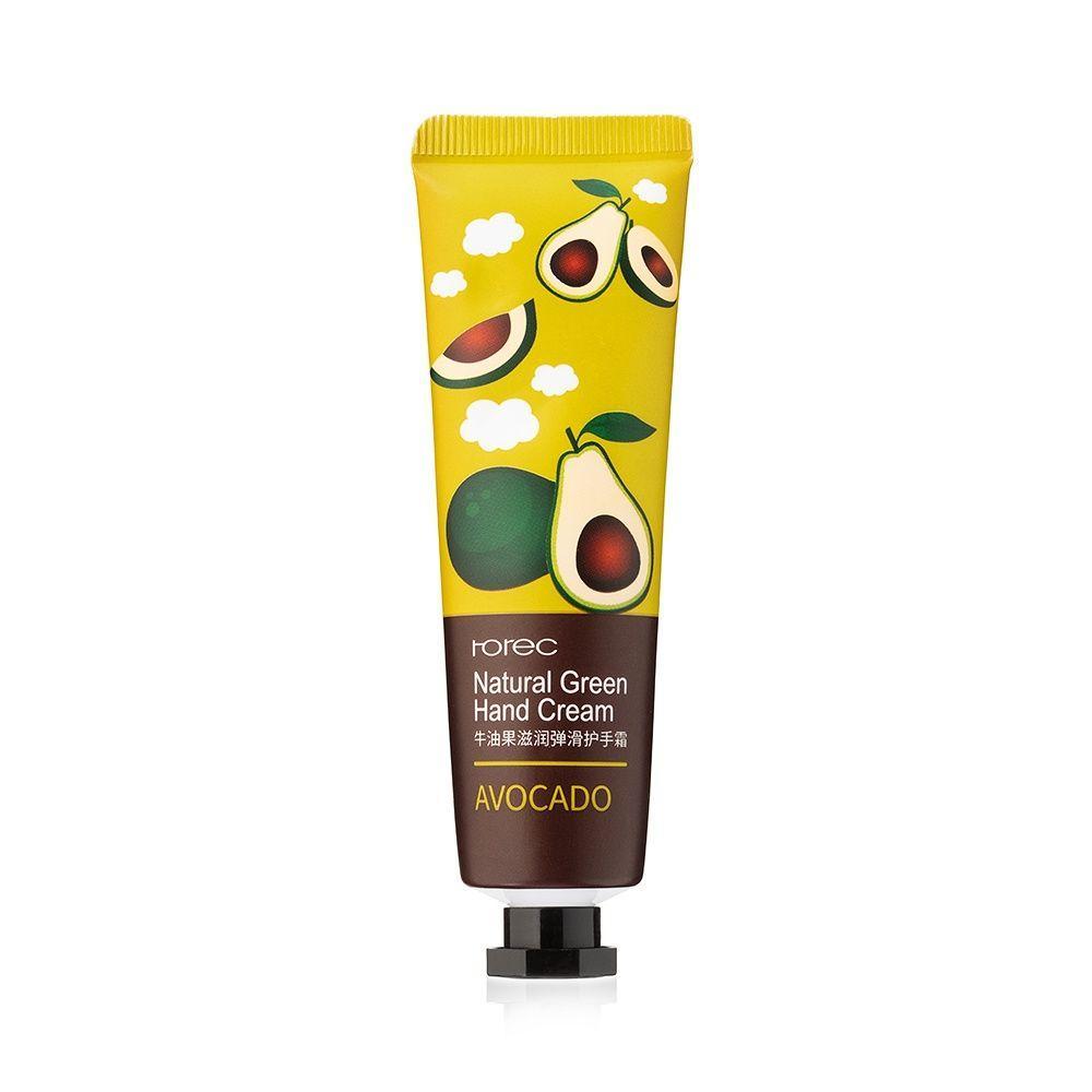 Крем для рук з екстрактом молока Rorec Natural Green Hand Cream Avocado 30 р.