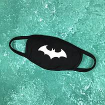 Маска захисна на обличчя багаторазова City-A Бафф K-Pop Бетмен Чорна