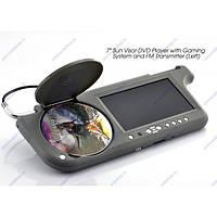 7-дюймовый солнцезащитный козырек DVD-плеер с игровой системой и FM-передатчиком