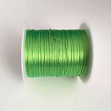 Силиконовая резинка. Зеленый. Катушка 10 м. Цена за 1 катушку
